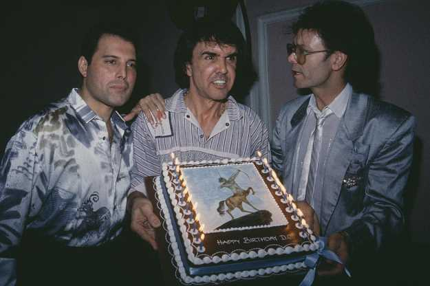 Freddie Mercury, Dave Clark and Cliff Richard. PhotoCredit: David M. Benett, Getty Images