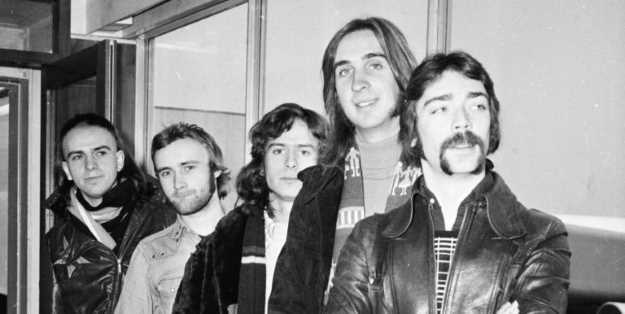 Genesis at London Airport in 1974.