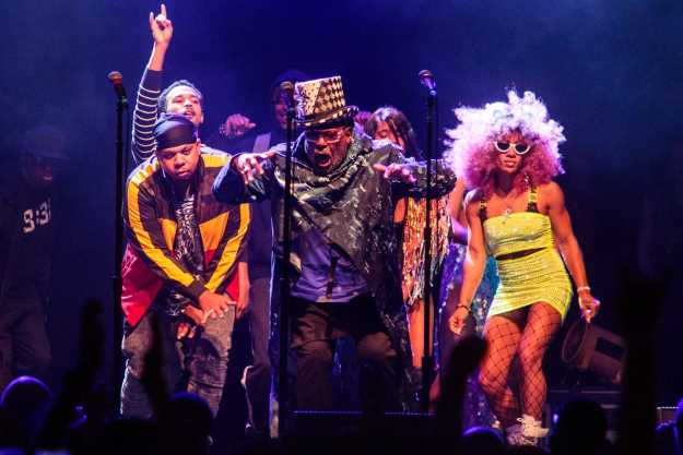 George Clinton with Parliament Funkadelic. (Photo: Ben Stas for The Boston Globe)
