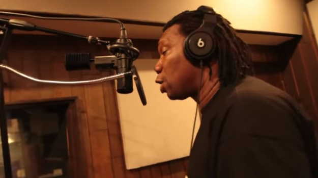 KRS-One in the studio. YouTube snapshot