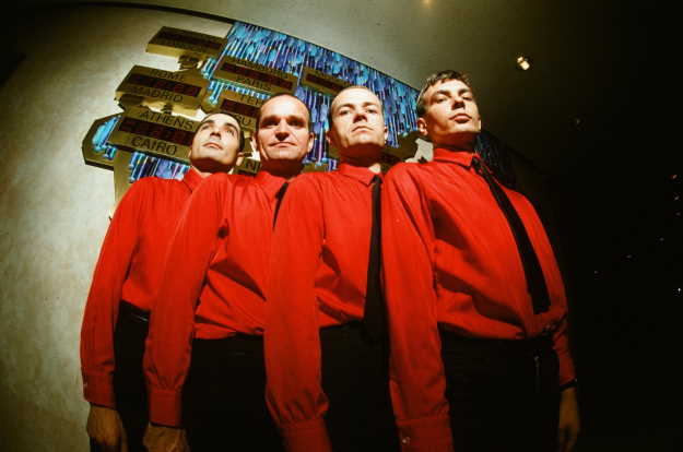 Kraftwerk. Photograph by Koh Hasebe / Getty