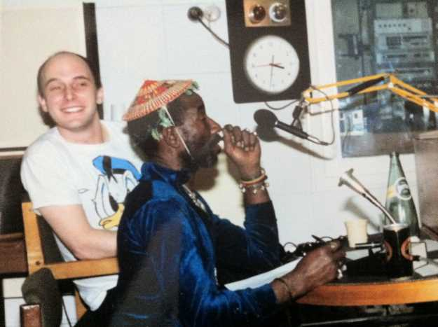 Lee 'Scratch' Perry and Adrian Sherwood. Photo: Steve Barker