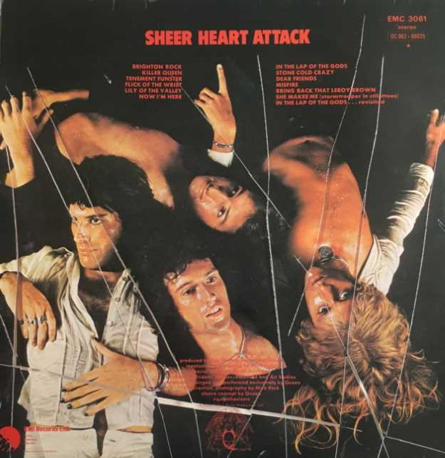 'Sheer Heart Attack' contained the Number Two Hit, 'Killer Queen'